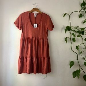 For the republic tiered babydoll t-shirt dress